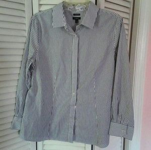 Talbots Pin Stripe Tailored Blouse